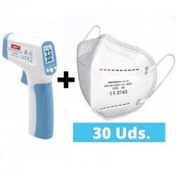 Pack 30 FFP2 + termómetro...